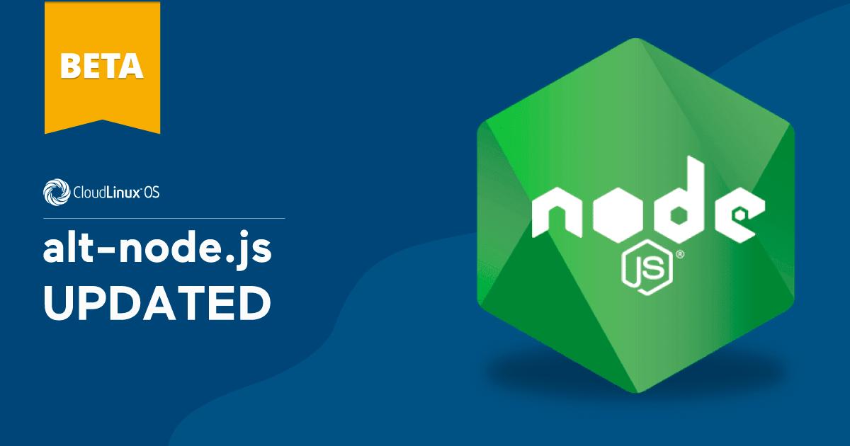 Beta: alt-Node.js updated